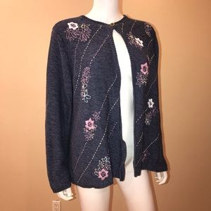 Linden Hill Vintage Cardigan Sweater Open Front